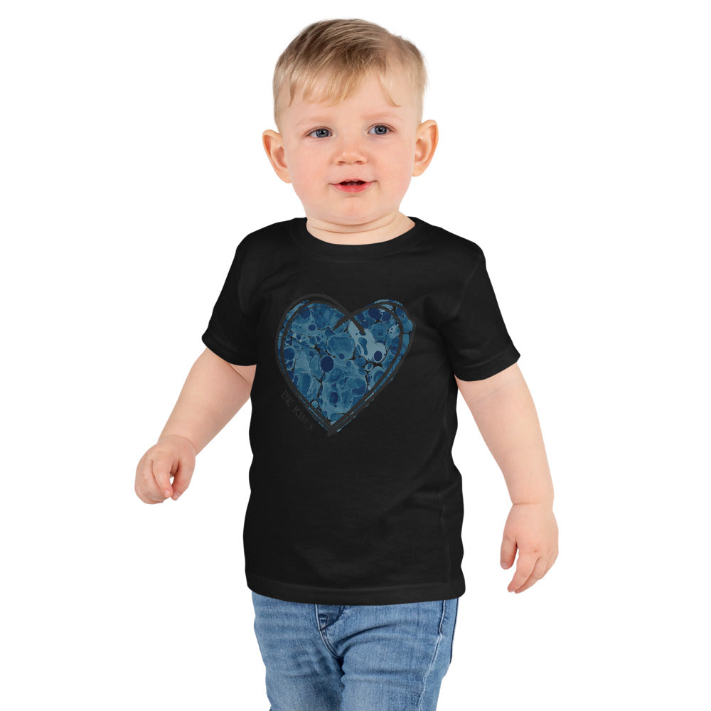 "BLUE ""BE KIND"" HEART CHILDS TEE"