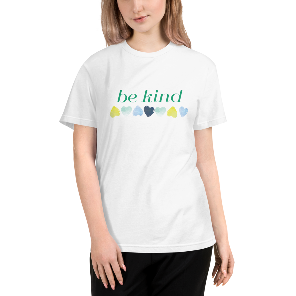 "GREEN ""BE KIND"" GROUNDED HEARTS"