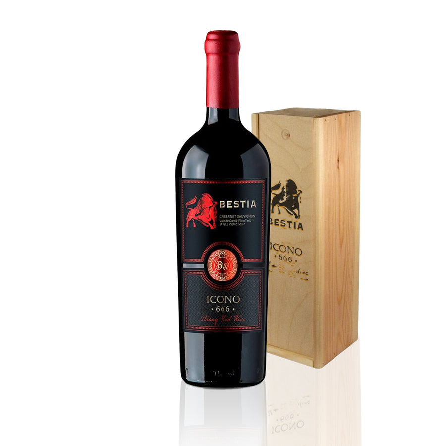 Bestia Ícono, Strong Red Wine Blend, 1 unidad, 750cc