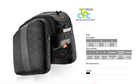 (Out of stock) PakRak Commuter MultiMount Bag