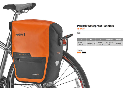 (Out of stock) PakRak Waterproof Bike Pannier