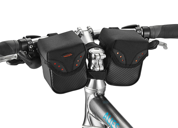 Rider-facing handlebar bag