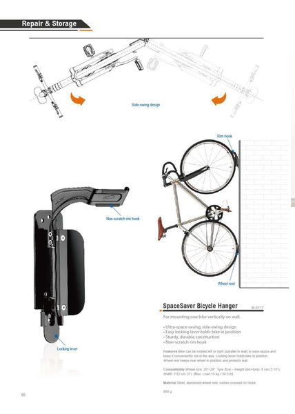 Side Swing Bicycle Hanger