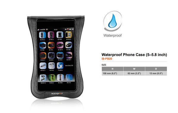 Handlebar-mounted Waterproof Smartphone Case (5.0–5.8 inch)