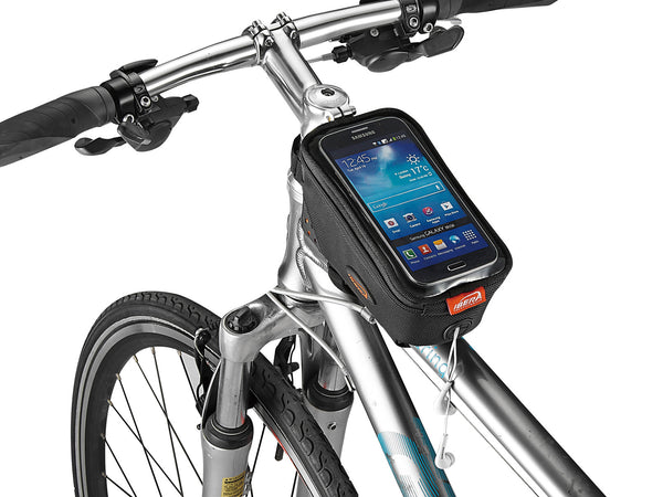 Ibera TB8 Top Tube Bag with phone sleeve and earphone opening
