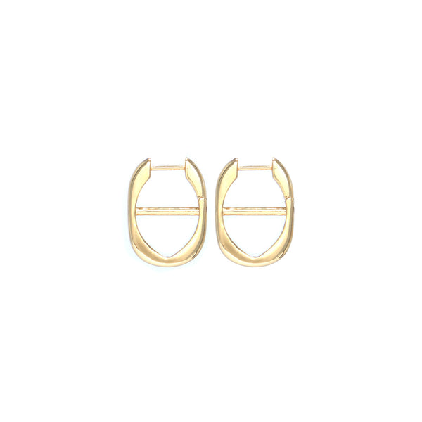 Chain Hoop Earrings - 18ct Gold-Plated