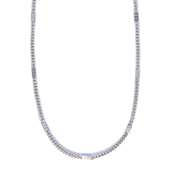 Power Chain Necklace Long - Sterling Silver