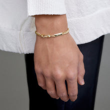 Load image into Gallery viewer, Power Tag Bracelet - 18ct Gold-Plated Sterling Silver