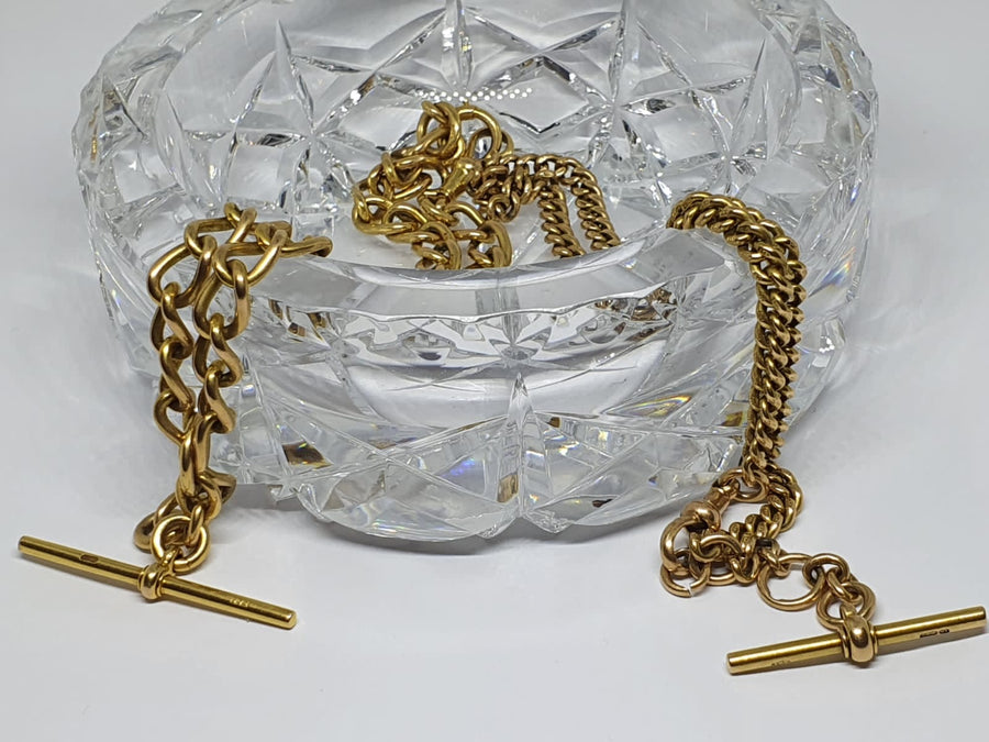 Vintage Pocket Watch Chain - Open Curb Link