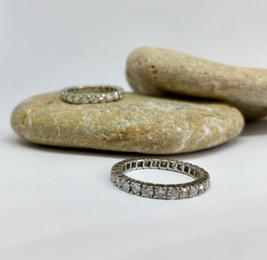 18 carat white gold Full Eternity Ring