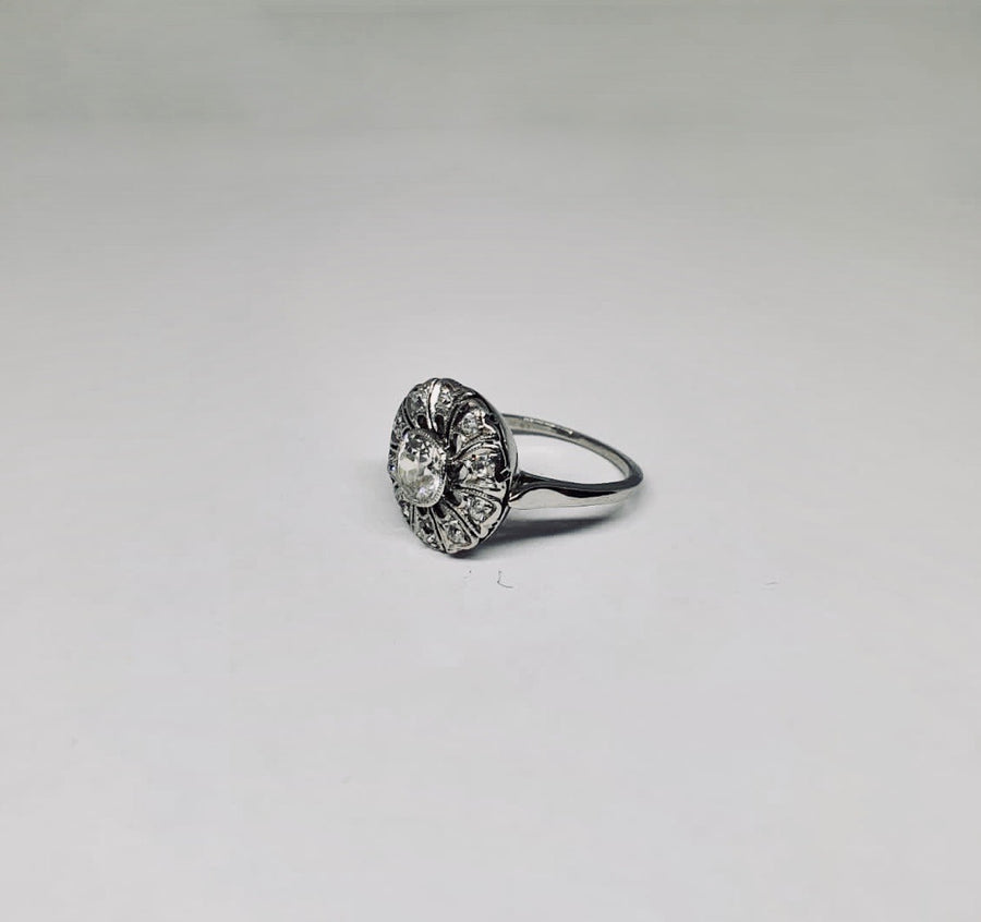 Platinum unusual Diamond cluster ring