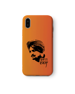 Sidhu Moose Wala - Orange Face Mobile Cover