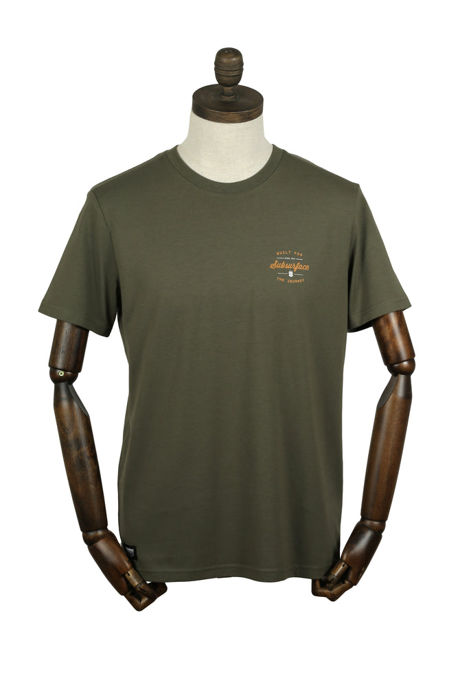 Load image into Gallery viewer, 'BUILT' Tee | Khaki Olive
