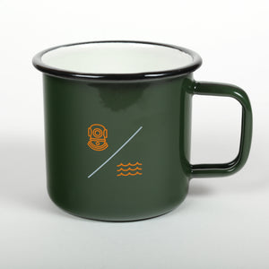 Load image into Gallery viewer, SIMPLE EQUATION ENAMEL 'CAMP' MUG | Green