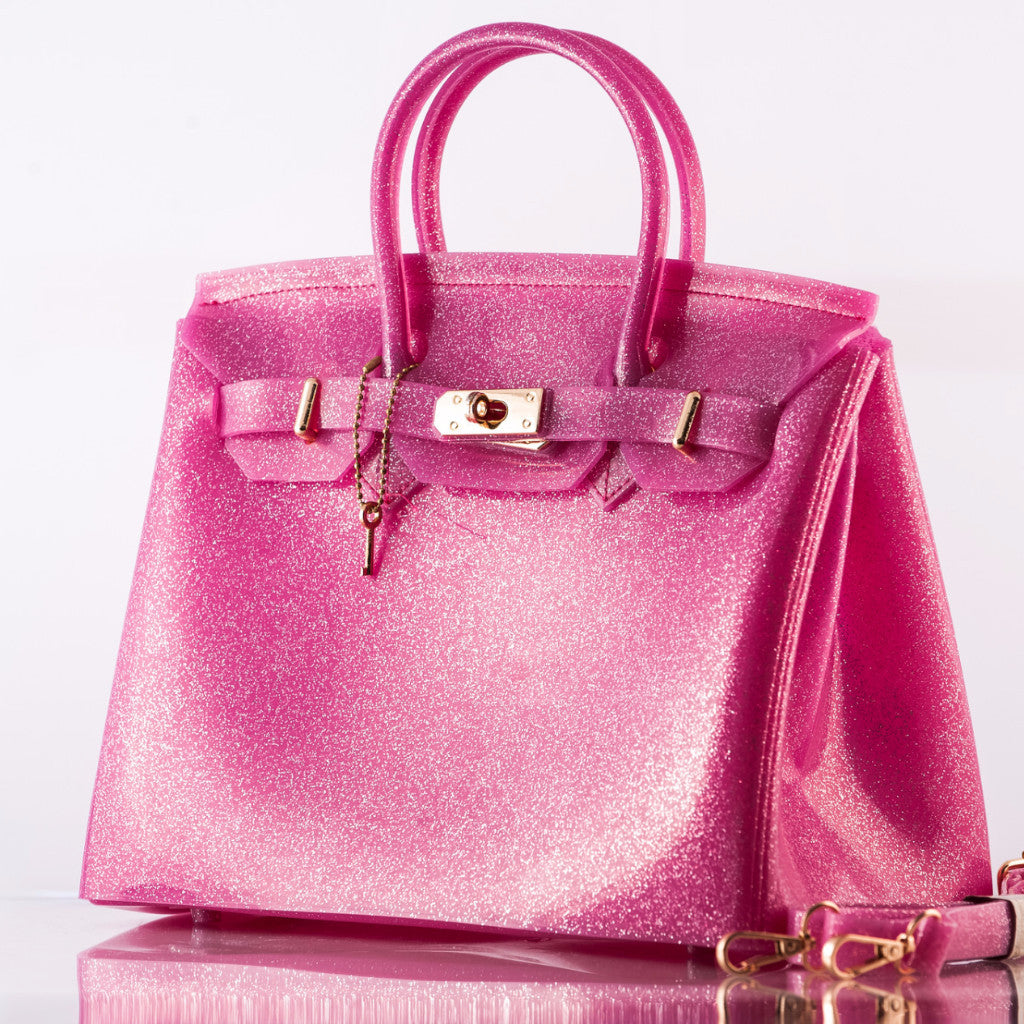 a0f8a263d3 The Beachkin Bag - Glitter pink