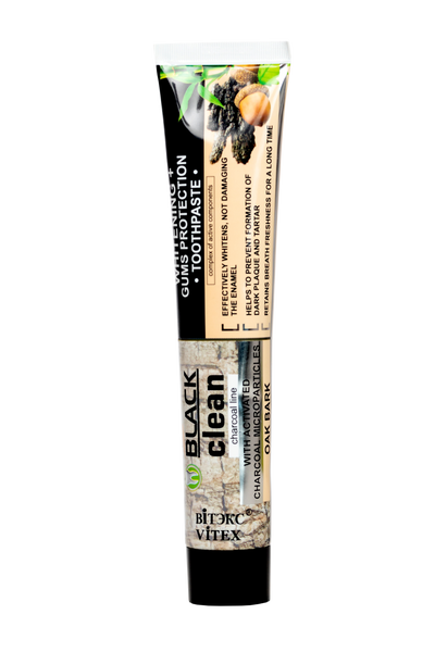 "*BLACK CLEAN ""Whitening + Gums Protection"" Toothpaste"
