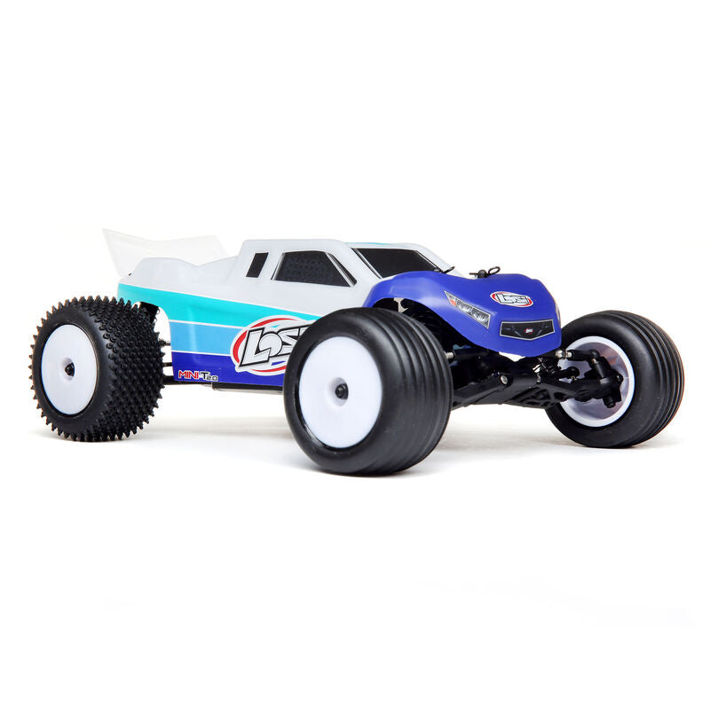 Losi - 1/18 Mini-T 2.0 2WD Stadium Truck Brushless RTR blue (LOS01019)