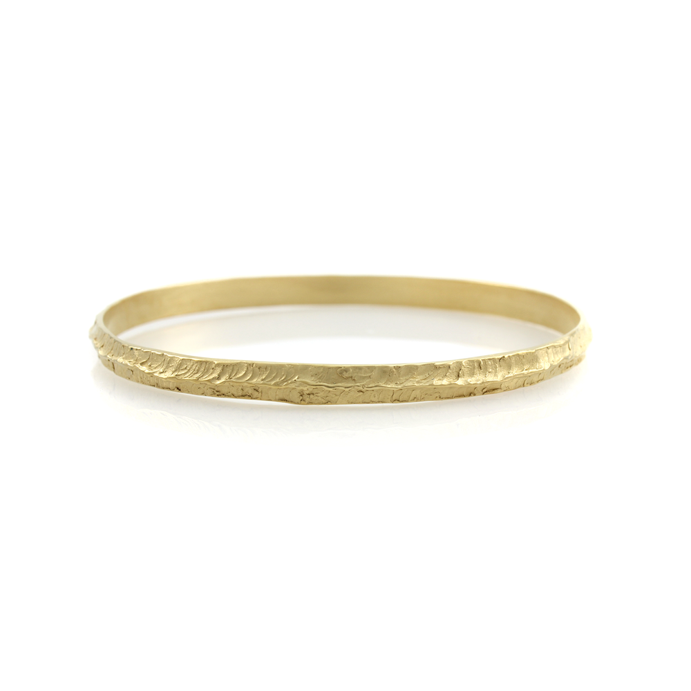 Thin Rocky Ridge Bangle