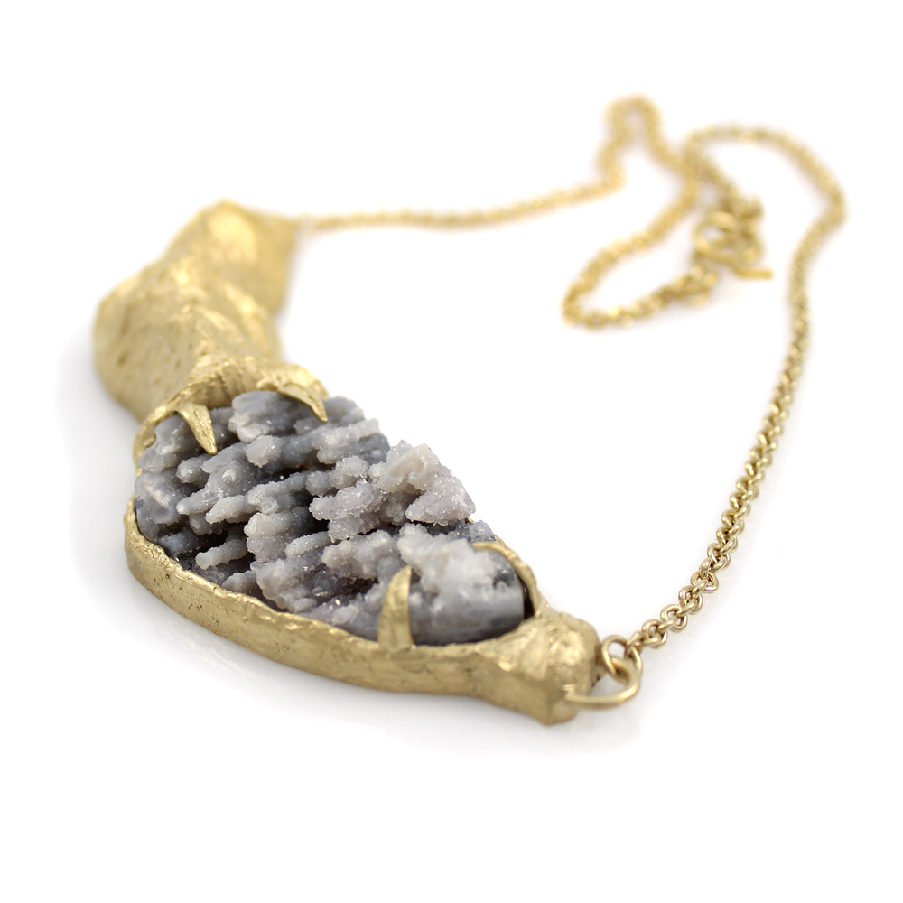 One-of-a-Kind Mountain & Druzy Necklace