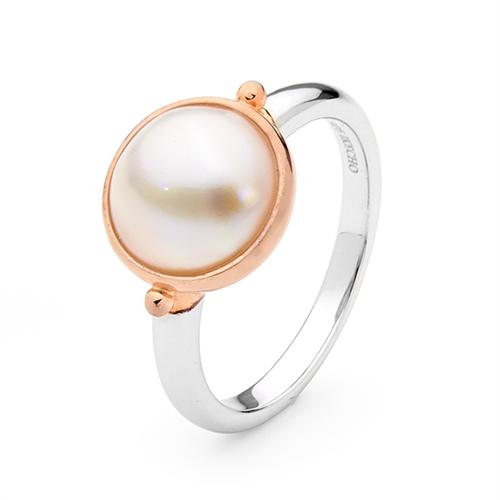 Mabe Pearl Ring Sterling Silver