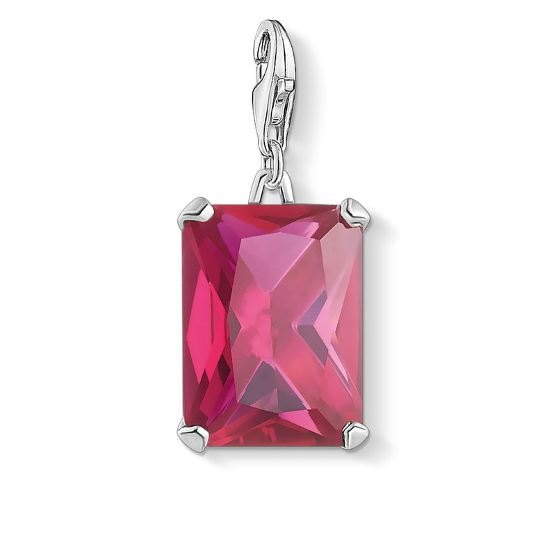 Thomas Sabo Charm Pendant Large Hot Pink Stone