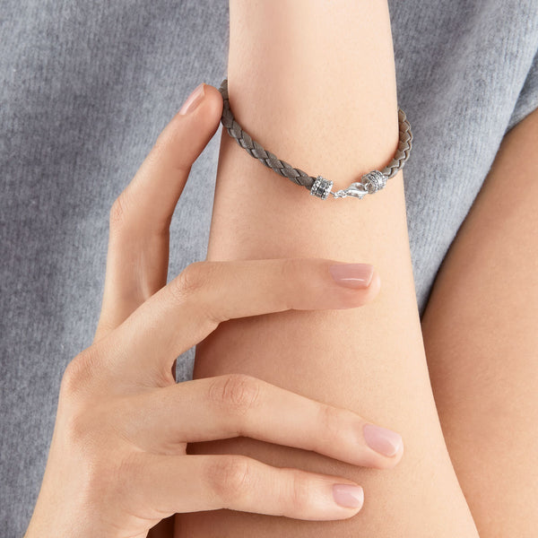 Thomas Sabo Leather Bracelet Grey