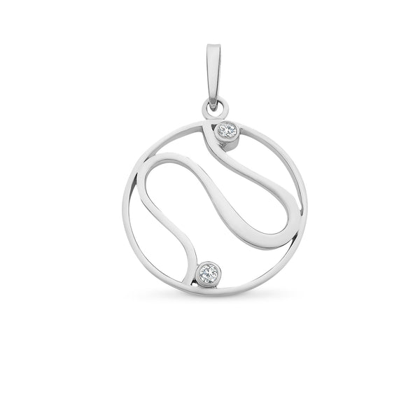 Sterling Silver Diamond Necklet