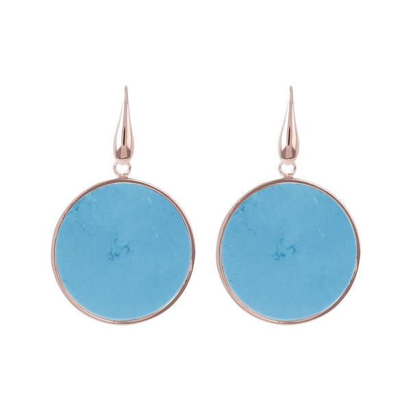 Bronzallure Big Magnesite Disc Earrings