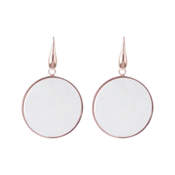 Bronzallure Big Mother Of Pearl Disc Earrings