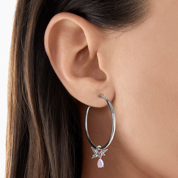 Thomas Sabo Hoop Earrings Flower Silver