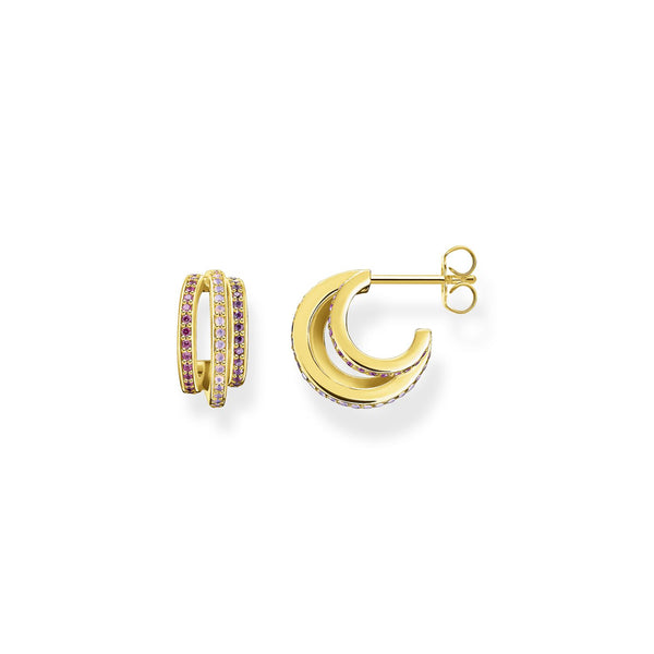 Thomas Sabo Hoop Earrings Rings Gold