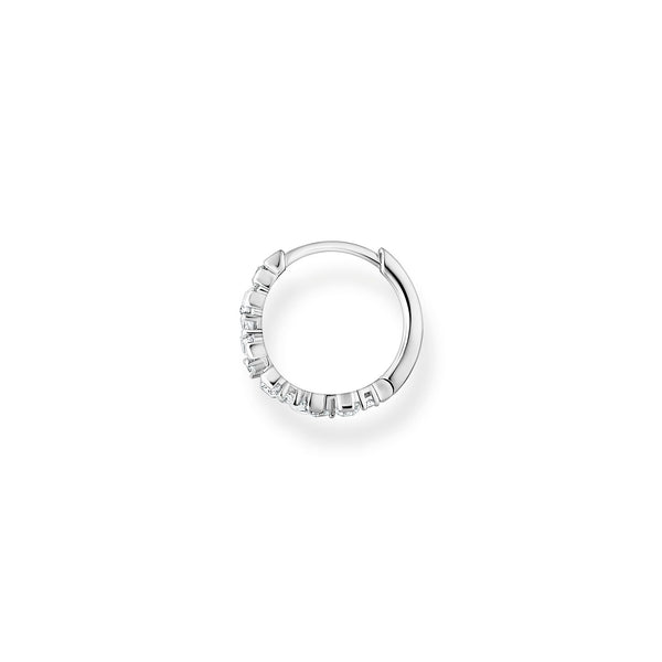 Thomas Sabo Single Hoop Earring Stones Silver
