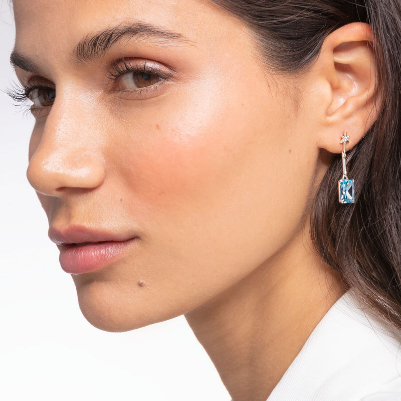 Thomas Sabo Earrings Blue Stone