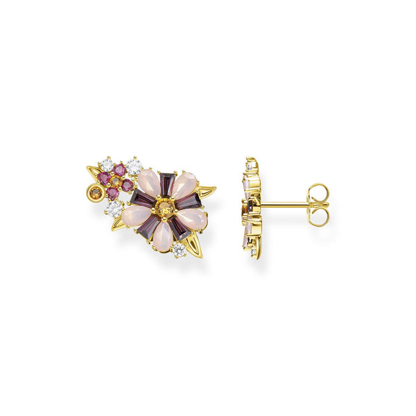 Thomas Sabo Ear Studs Flowers Gold
