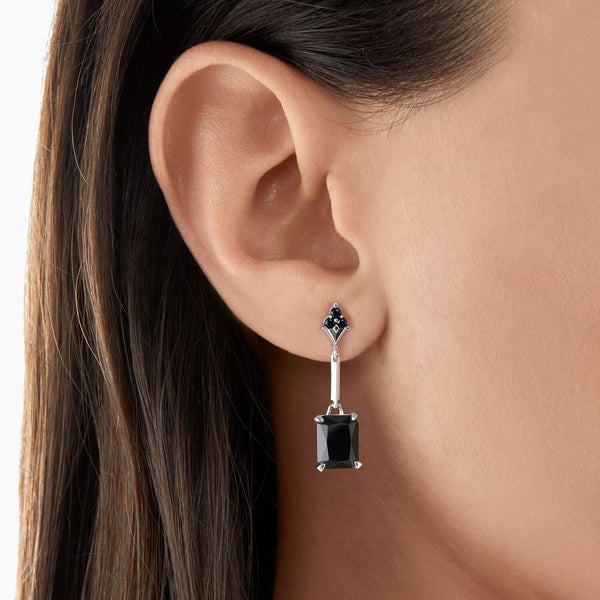 Thomas Sabo Earring Black Stone Silver