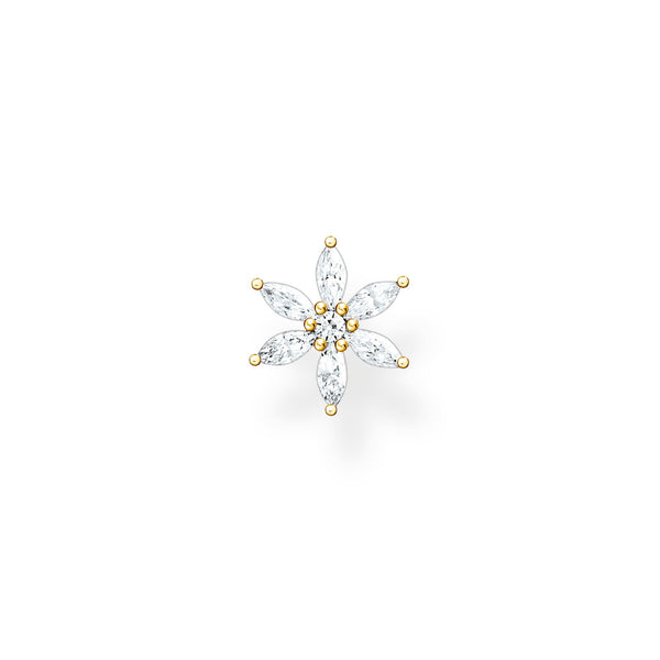 Thomas Sabo Single Ear Stud Flower Gold