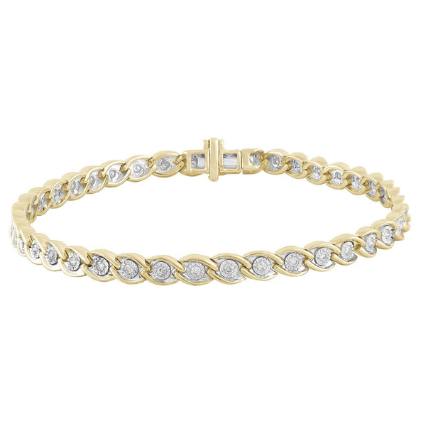 Bracelet with 0.5ct Diamonds in 9K Yellow Gold
