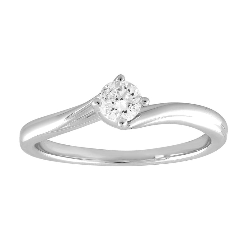 Solitaire Ring with 0.25ct Diamond in 9K White Gold