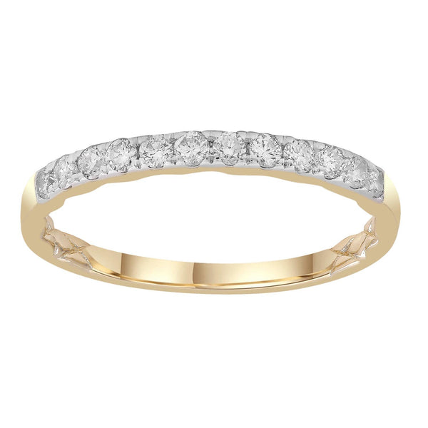 Band Ring with 0.25ct Diamonds in 9K Yellow Gold