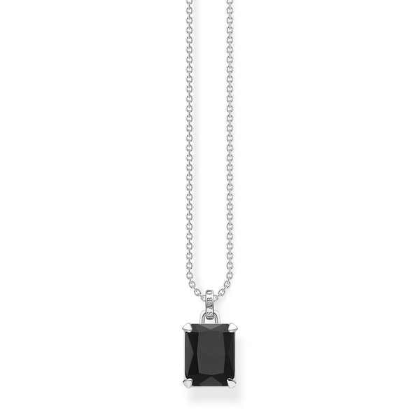 Thomas Sabo Necklace Black Stone Silver