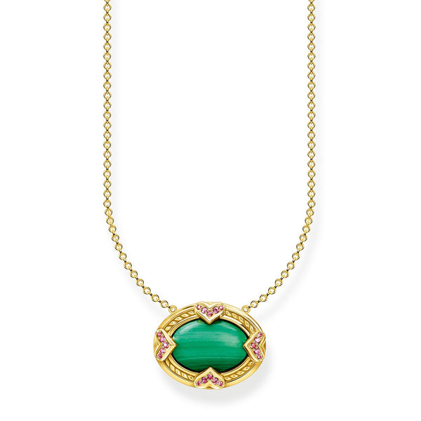 Thomas Sabo Necklace Green Stone
