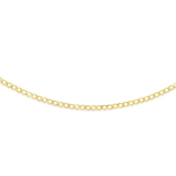 Solid Mens Curb Chain in 9ct Gold