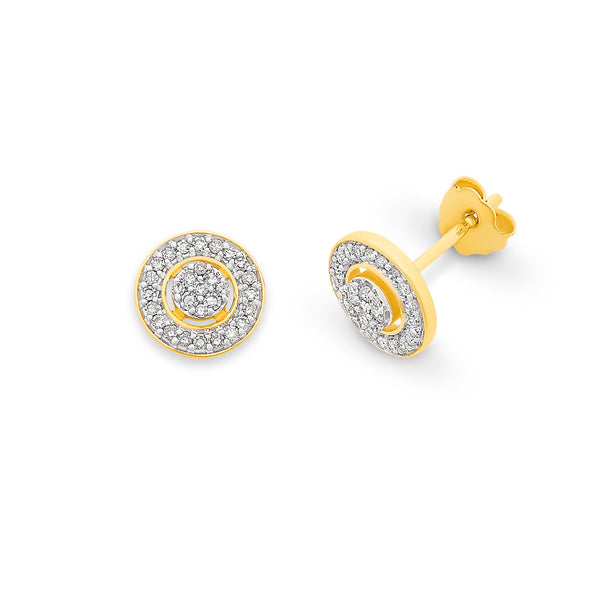 9ct Gold 0.20ct Diamond Earrings