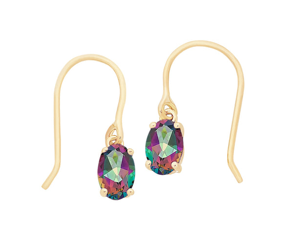 9ct Gold Mystic Topaz Earrings