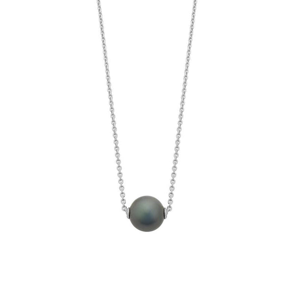 Sterling Silver Tahitian Pearl With Chain