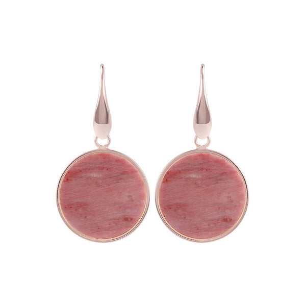 Bronzallure Mini Red Fossil Mineral Earrings