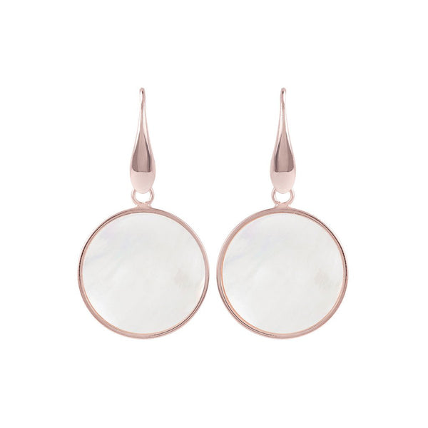 Bronzallure Mini Mother Of Pearl Mineral Earrings