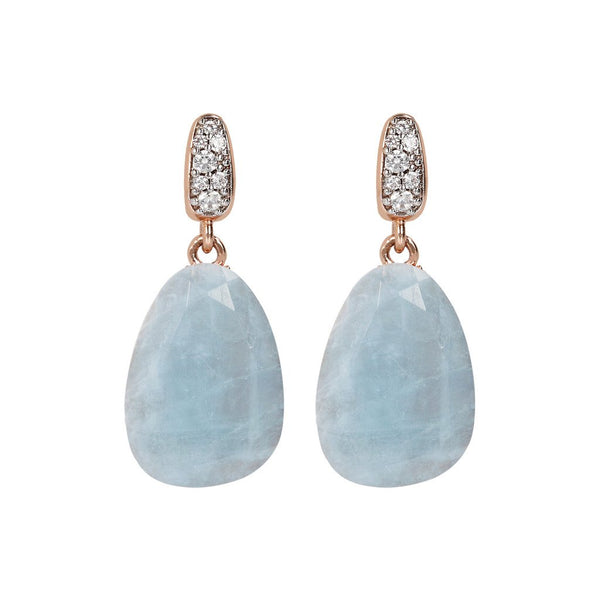 Bronzallure Preziosa Milky Aquamarine Earrings