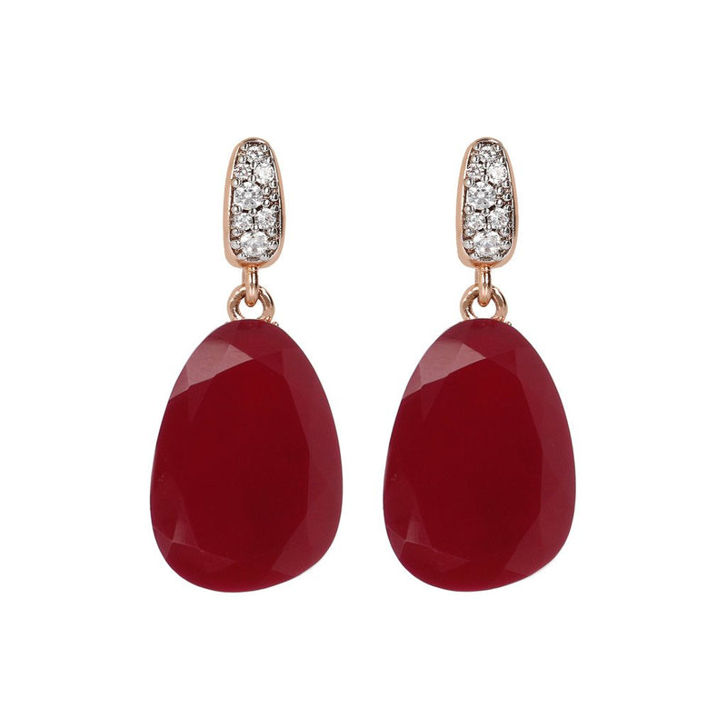 Bronzallure Preziosa Plum Agate Earrings