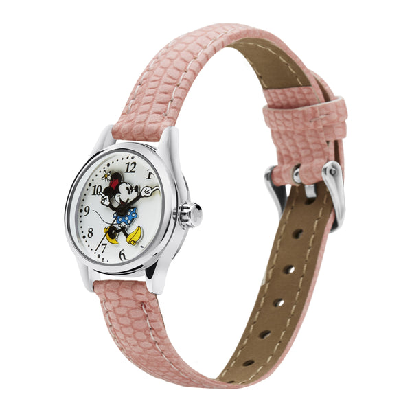 Disney Petite Minnie Croco Pink Watch